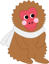 地獄谷野猿公苑PRキャラクター スノーモンキー「ゆきもん」